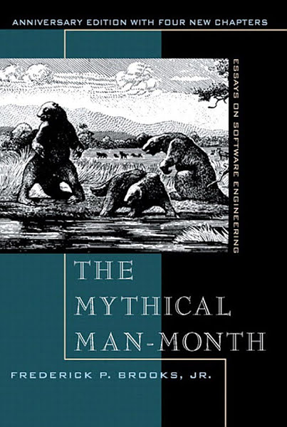 Book: The Mythical Man-Month: Essays on Software Engineering, Anniversary Edition (2nd Edition) by Frederick P. Brooks Jr.