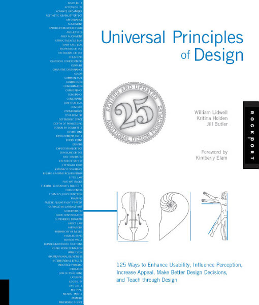 Book: Universal Principles of Design: 125 Ways to Enhance Usability, Influence Perception, Increase Appeal, Make Better Design Decisions, and Teach through Design by William Lidwell